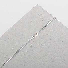 Gummischnüre 1,5mm silber