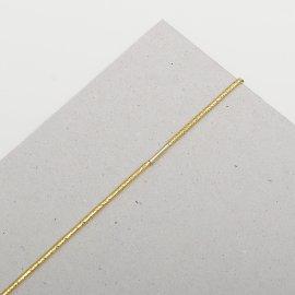Gummischnüre ca,1,5mm gold