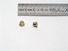 eyelet brass-plated