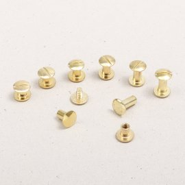 Book binding screws brass-plated, gold color