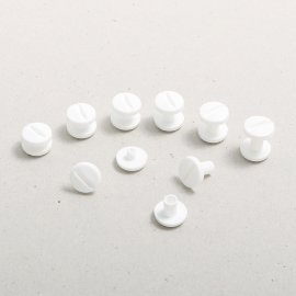 Plastic book binding screws white