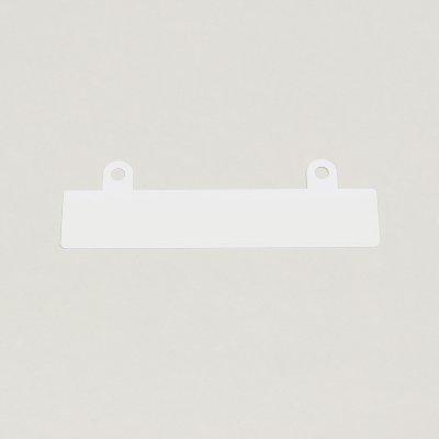 filing strip white,non slotted