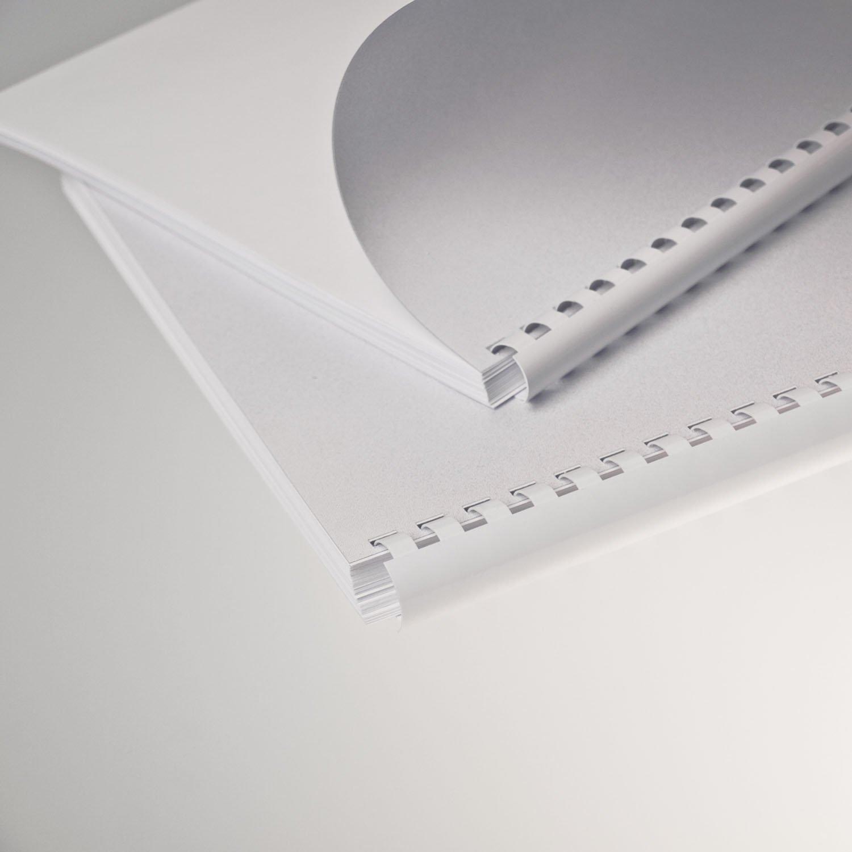 Plastikbinder.USA *10mm, Weiß 21 Ringe Für A4, 300mm Länge