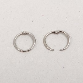 iron book ring, nickel-plated