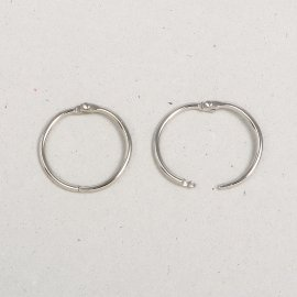 iron book ring nickel-plated