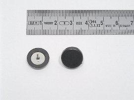 Plakatbutton schwarz 14 mm