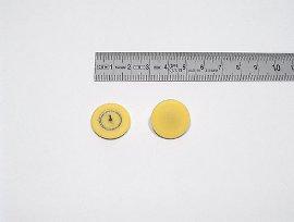 Plakatbutton gelb    20 mm