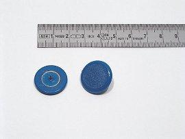 Plakatbutton blau    20 mm