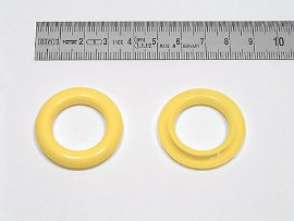 ring for finger hole, plastic