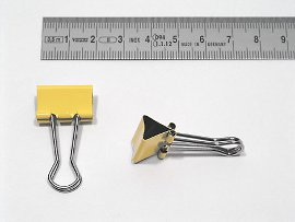 foldback clip mm yellow
