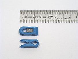 paper clip blue, plastic