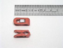 paper clip red, plastic