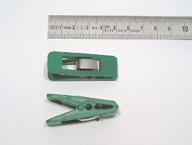 paper clip green, plastic