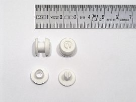rivet plastic white