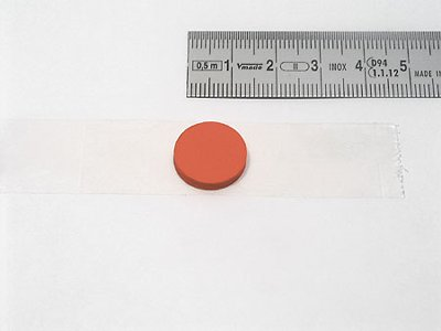 cd-button red, self- adhesive