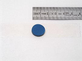 cd-button blue, self-adhesive