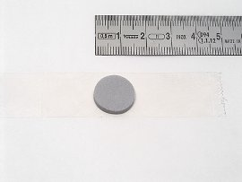CD-Button grau selbstklebend