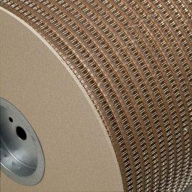 Ring-Wire Grossrollen silber glänzend 2:1