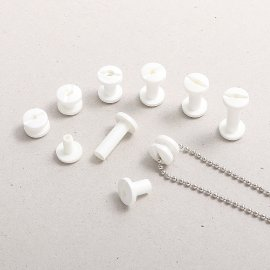 3,5 mm durchbohrte Kunststoff-