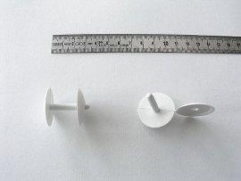 Druck-Niete Kunst.weiß b.22 mm