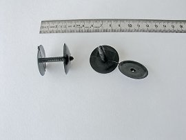 rivet plastic black, head:mm