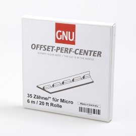 Micro-Perf-Center teeth