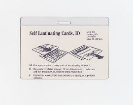 Identity card pocket x mm