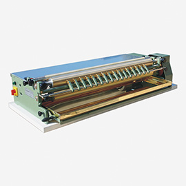 Gluing machines, pressing machines, varnishing-machines