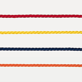 Rayon cord 1, 5mm triple twisted