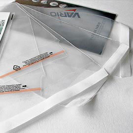 Laminating film rolls,  self-adhesive pouches and adhesive tapes