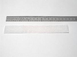 20 mm weiß Flauschband