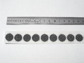 15 mm schwarz Flauschscheibe