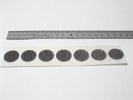 33 mm schwarz Haftscheibe
