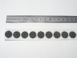 13 mm schwarz Flauschscheibe