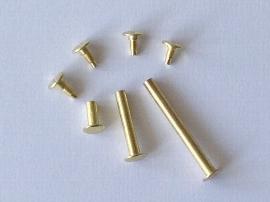 14mm Buchschrauben vermessingt