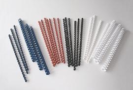 Plastikbinder.USA *8mm, Weiß