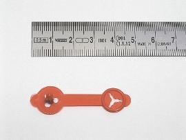 Briefknöpfe rot      30 mm