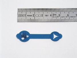 Briefknöpfe blau     36 mm