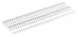 Ring-Wire Grossrollen silber glänzend 3:1