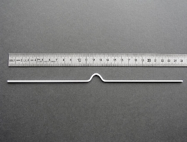 Kal.Aufhänger weiß,    250mmlg