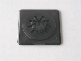 CD-Stern, schwarz Kunst.