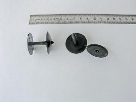 Druck-Niete schwarz  b.22 mm