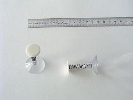 Haftsauger farblos 30mm mit