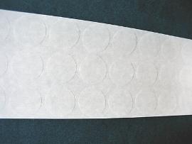 28mm Klebepunkte transparent
